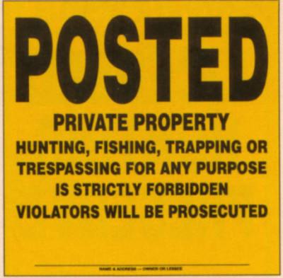 private_property_no_trespadding_hunting_prosecution